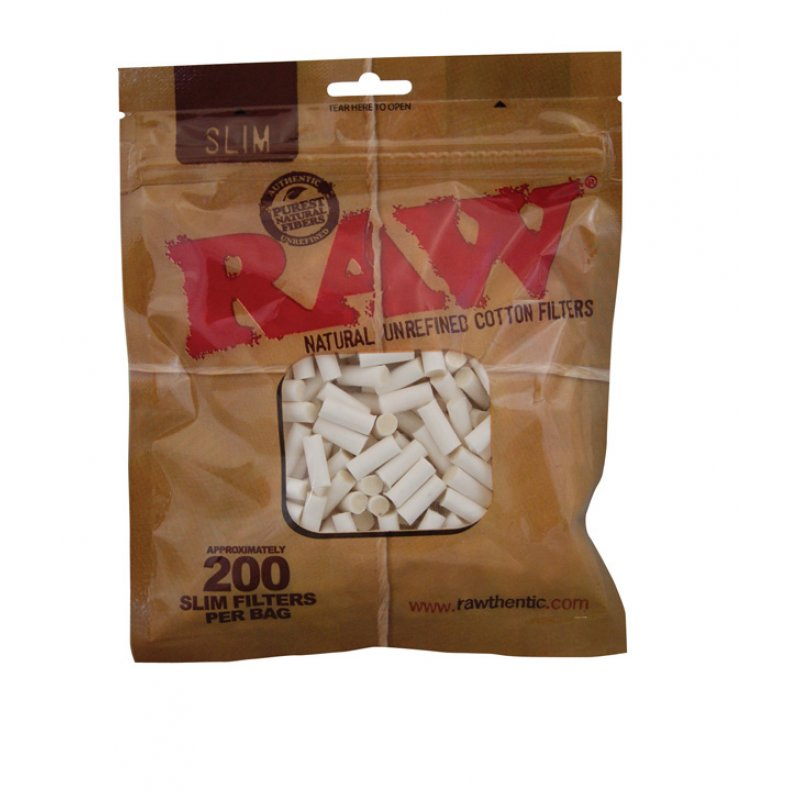 Raw Slim Natural Cotton Filters 6 5 Mm Cigarette Filters