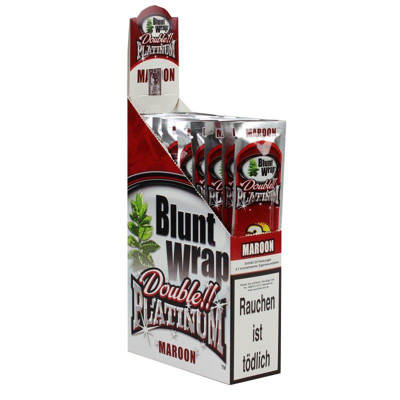 1 box blunt wrap double maroon 50 blunts 14 95. Black Bedroom Furniture Sets. Home Design Ideas
