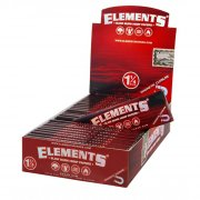 Elements Red 1 1/4 Medium Size Hanf Papers 1 Box (25...
