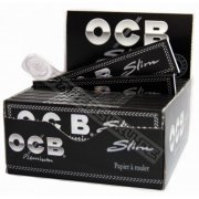 OCB Premium slim King Size Papers Blättchen schwarz 1 Box...