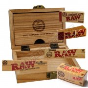 RAW Wood Geschenkbox Raucherbox + Papers Tips Rolls Holzbox