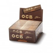 OCB Unbleached Virgin slim King Size Papers ungebleichte...