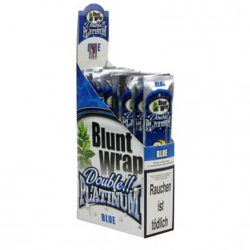 1 Box Blunt Wrap Double Blue 50 Blunts