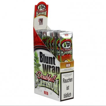 1 Box Blunt Wrap Double Red 50 Blunts