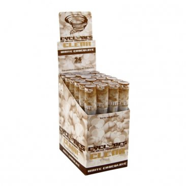 1 Box Cyclones CLEAR White Chocolate Cones Transparent Vorgerollt