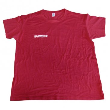 Elements Shirt Rot mit Elements Red Print