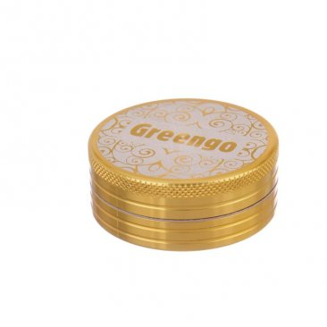 Greengo Grinder 2-teilig 50mm Metall gold