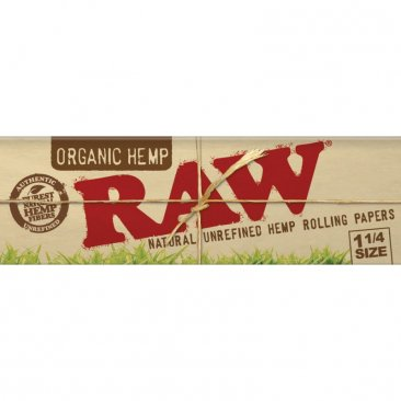 RAW ORGANIC Hanf Papers! 1 1/4 Format! NEU!