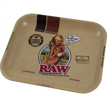 RAW Tray RAW Girl Large Drehtablett Metall