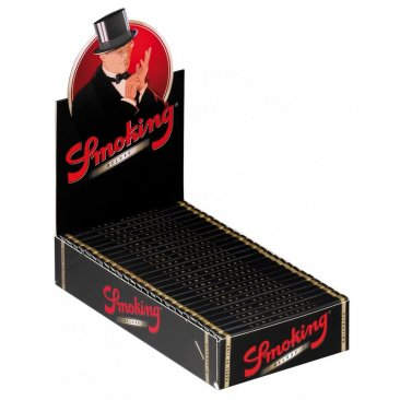 Smoking Deluxe 1 1/4 Medium Size Zigarettenpapier Papers schwarz