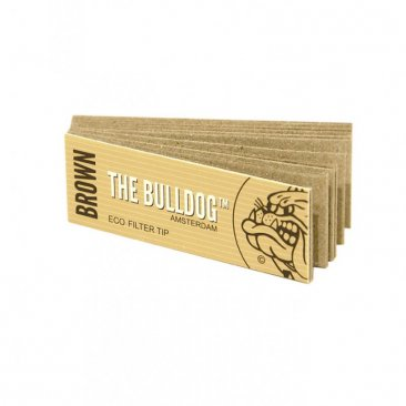The Bulldog Brown natürliche Filter Tips slim ungebleicht Eco perforiert