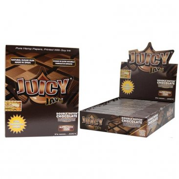1 Box (24x) Juicy Jays King Size Papers Double Dutch Chocolate