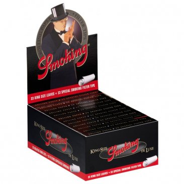 Smoking Deluxe Papers + Tips King Size slim Filtertips integriert! NEU