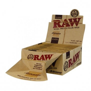 RAW Artesano Classic King Size Papers + Tips + Tray integriert NEU!