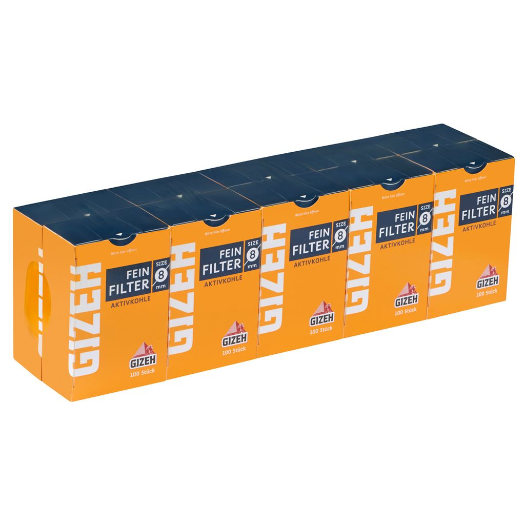 Gizeh Aktivkohlefilter 8mm Zigarettenfilter Feinfilter