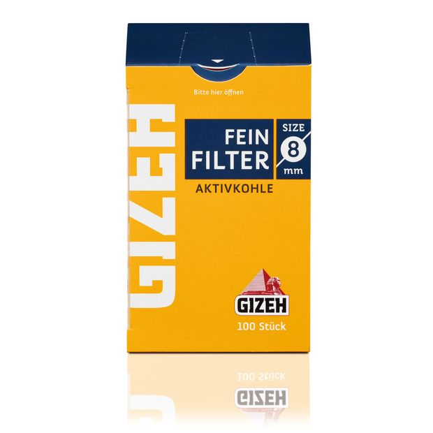 Gizeh active charcoal filter 8mm cigarette fine filter