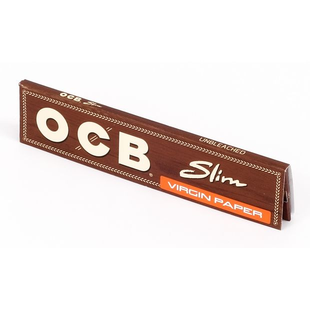 OCB Unbleached Virgin slim King Size Papers ungebleichte Blättchen NEU