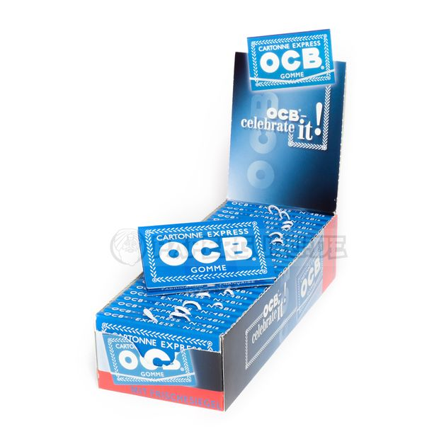 OCB Blau 100er Cartonne Express Gomme No. 4 Zigarettenpapier Papers