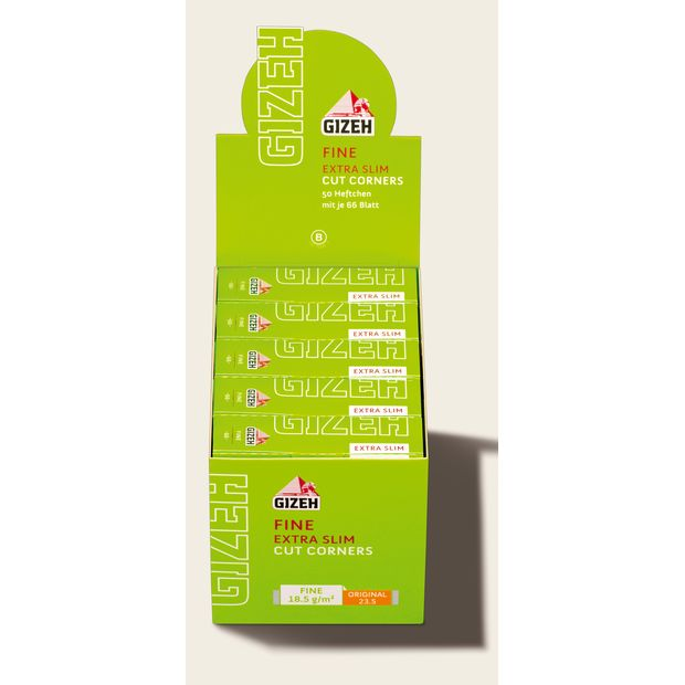 Gizeh Fine Extra Slim Zigarettenpapier Papers Cut Corners