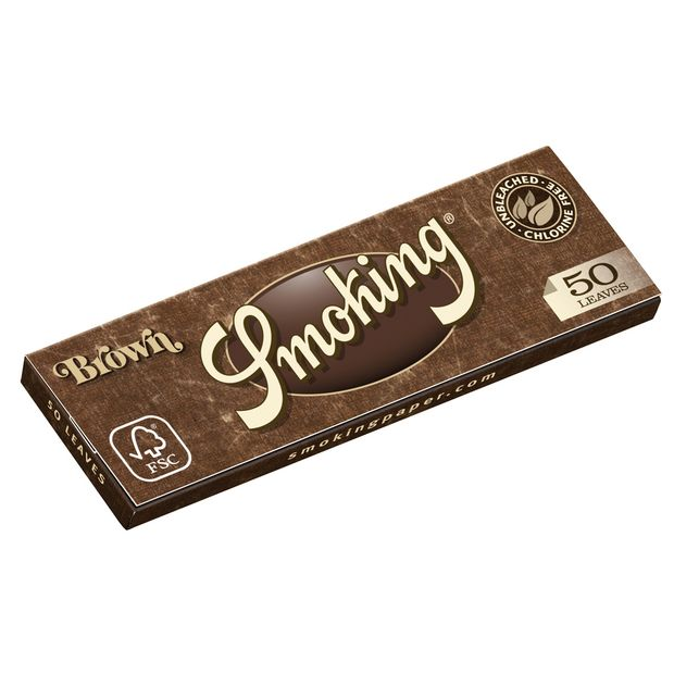 Smoking Brown 1 1/4 Medium Size Zigarettenpapier Papers Braun
