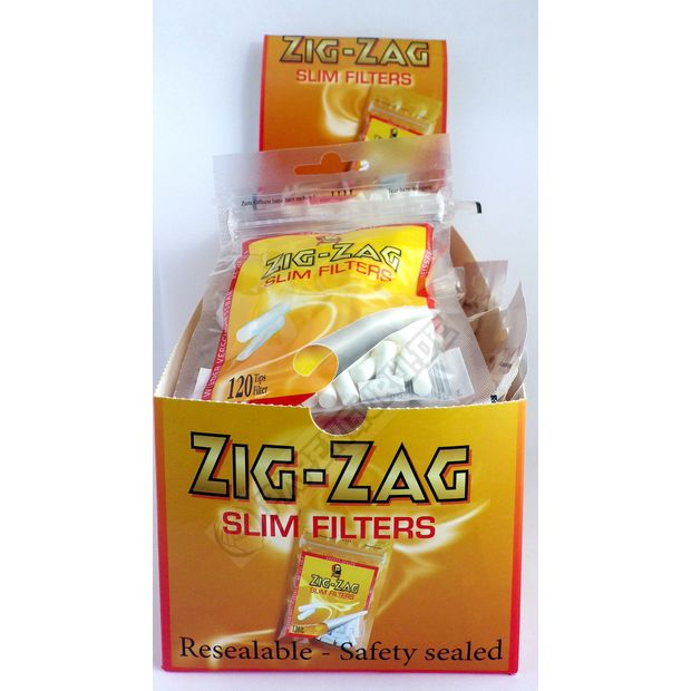 ZIG-ZAG Slim Filter 6mm Zigarettenfilter 10x 120er Bag