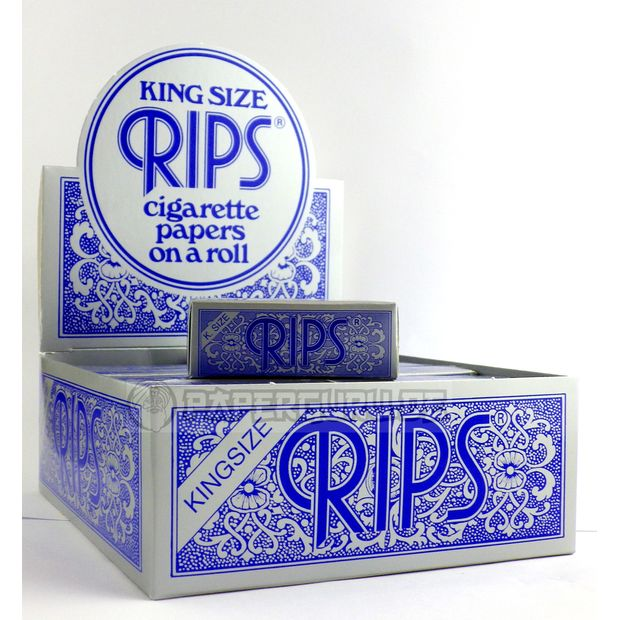 RIPS Blau Extra Breite Classic King Size Rolls Blue 5 Meter