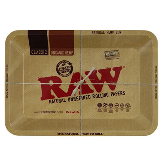 RAW Tray Mini rolling tray from metal 18x12,5cm
