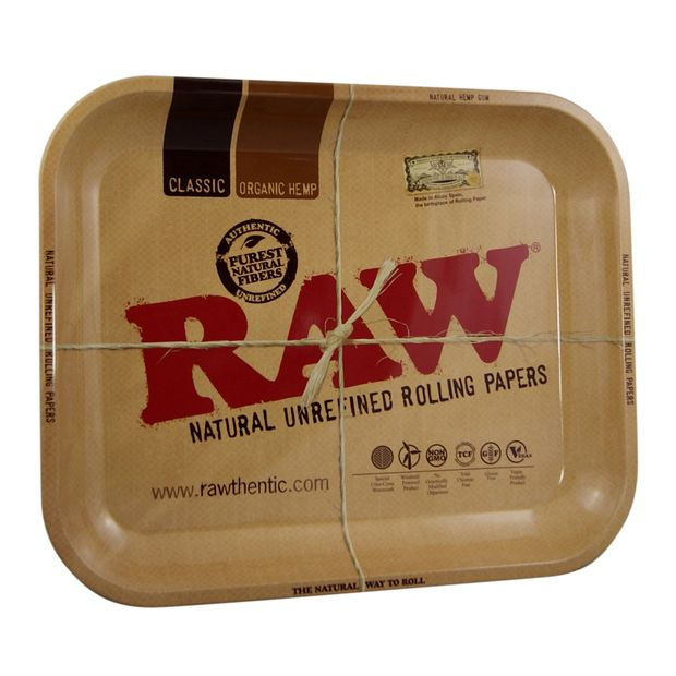 RAW Tray Large Drehtablett 34x27,5cm aus Metall