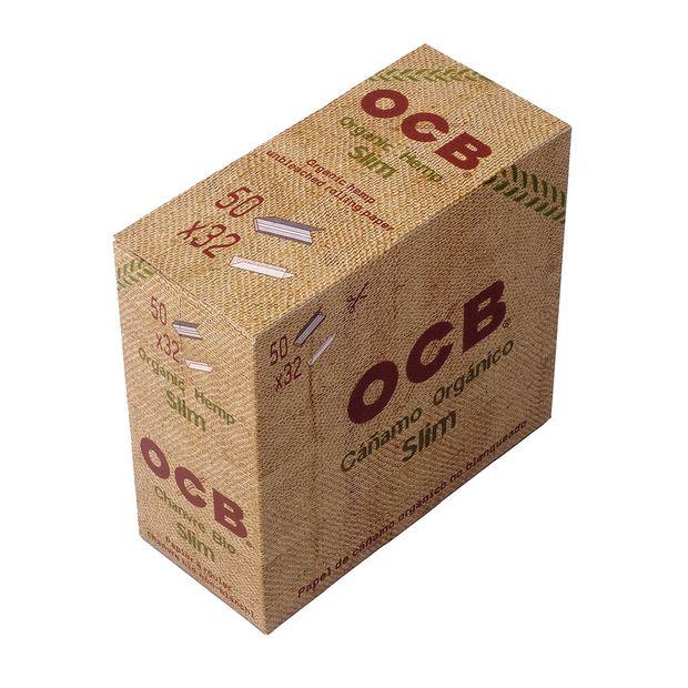 OCB Organic Hemp King Size Slim 100% Natural 1 box (50...