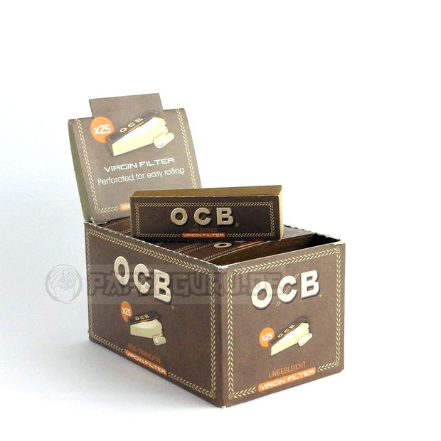 OCB Filter Tips Virgin Slim Perforated Unbleached