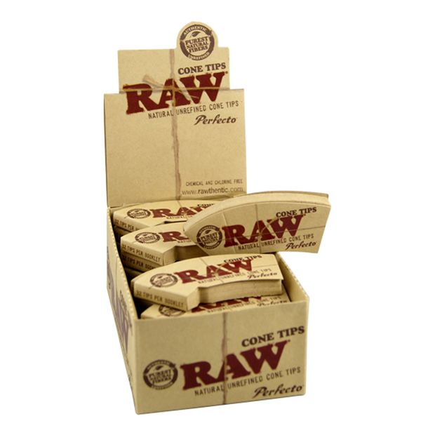 RAW tips Cone Perfecto conical unbleached fliter tips...