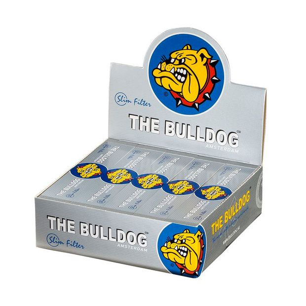 The Bulldog wide filter tips silver King Size perforated