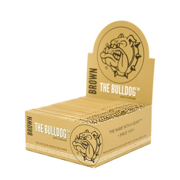 The Bulldog Brown King Size slim Eco Papers natürliches...