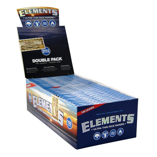 Elements short cigarette papers 100er single wide rice...