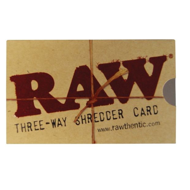 RAW Three-Way Shredder Card 8,5 x 5 cm! NEW! 1 RAW...