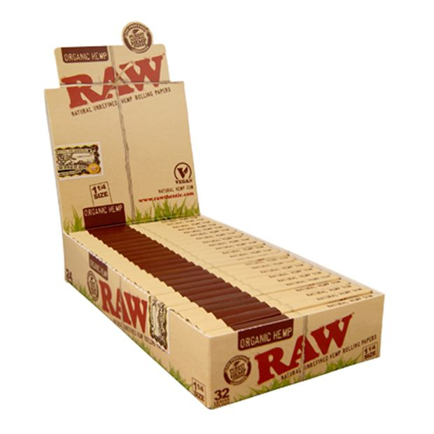 RAW ORGANIC Hemp Papers! 1 1/4 Medium Size! NEW!