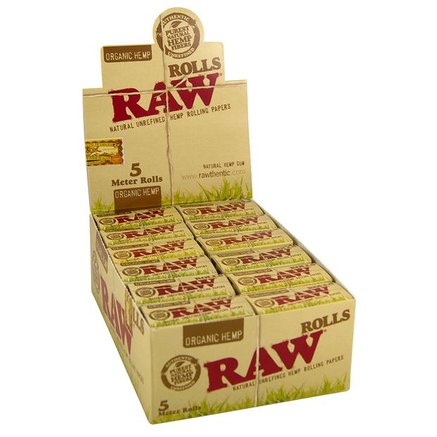 RAW ORGANIC Rolls Slim Length 5 meters Unbleached hemp...