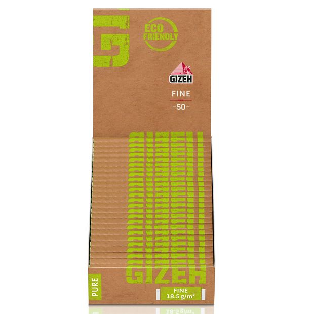 Gizeh Pure Fine Regular Cigarette Papers short Organic Hemp