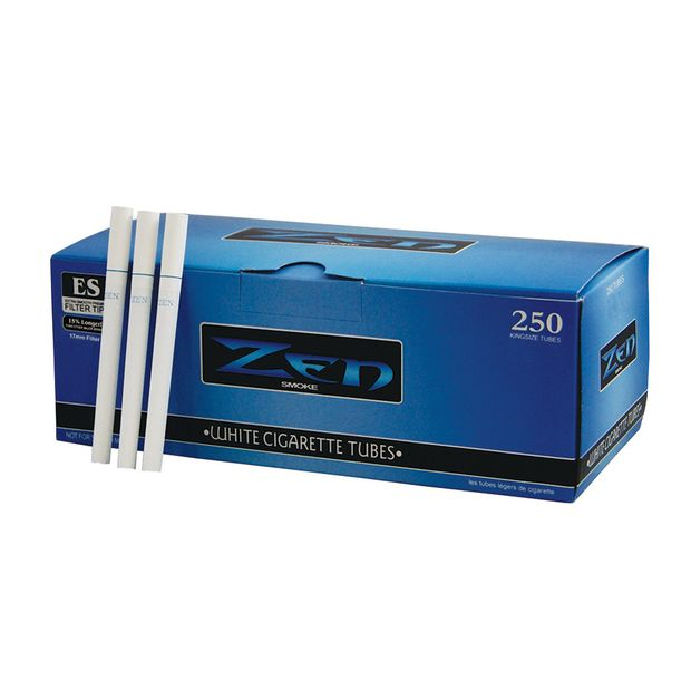 ZEN White Cigarette Tubes 250 per box 17mm Filter