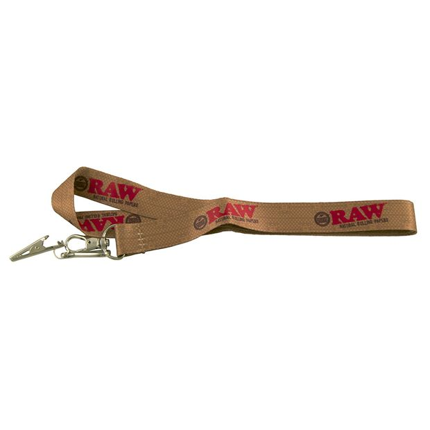RAW Lanyard Keychain with Alligator Clip and Snap Hook