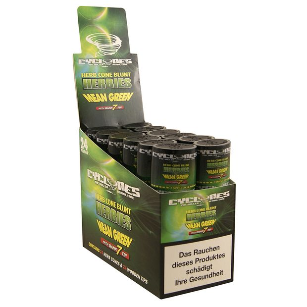 Cyclones Mean Green Kräuter Blunts mit Holztip Double 3...
