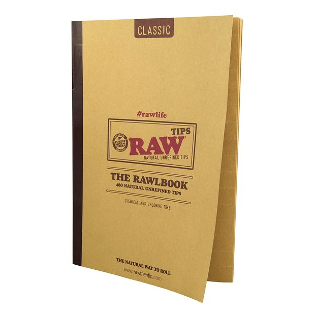 RAW The RAWLBOOK 480 Classic Tips pro Heft ungebleicht 1...