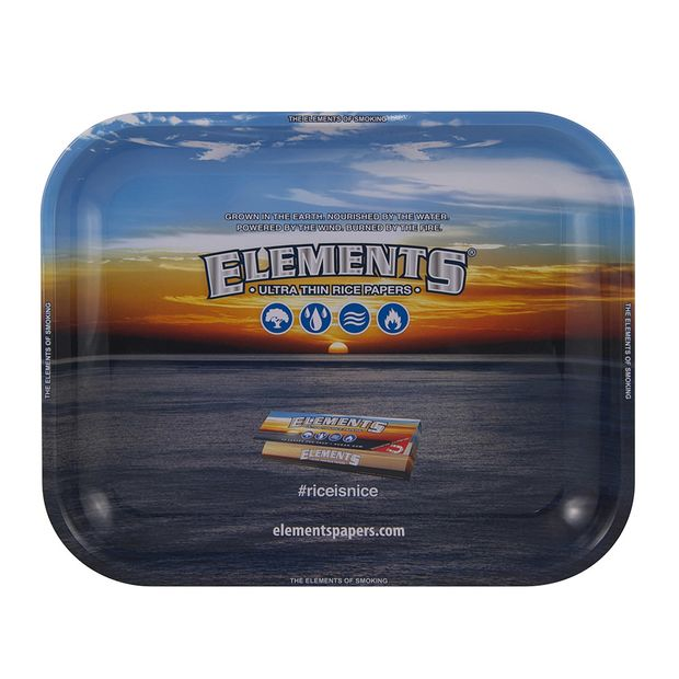 Elements Tray Large Drehtablett 34x27.5cm aus Metall