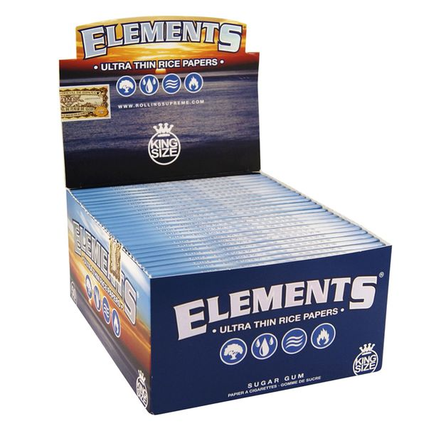 Elements King Size Papers Blättchen aus Reis