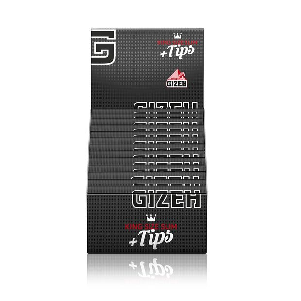 Gizeh Black Papers + Tips King Size Slim Extra Fine