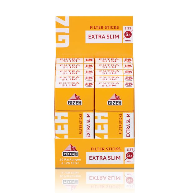 Gizeh Filter Sticks Extra Slim 5,3mm Durchmesser 1 Box...