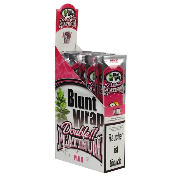 1 Box Blunt Wrap Double Pink 50 Blunts