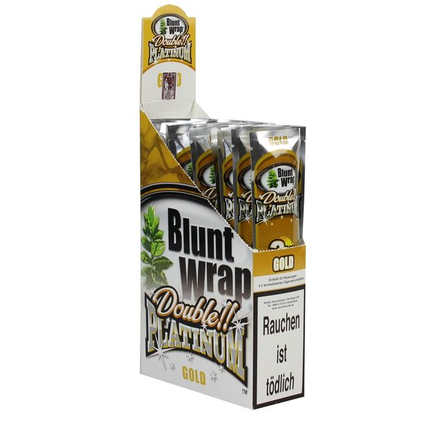 1 Box Blunt Wrap Double Gold 50 Blunts