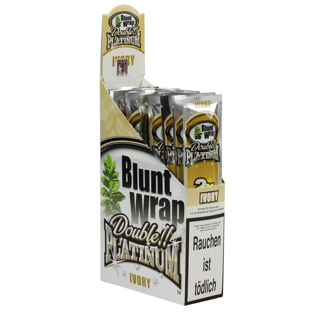 1 Box Blunt Wrap Double Ivory 50 Blunts