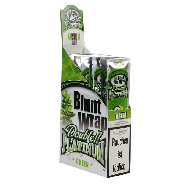 1 Box Blunt Wrap Double Green 50 Blunts